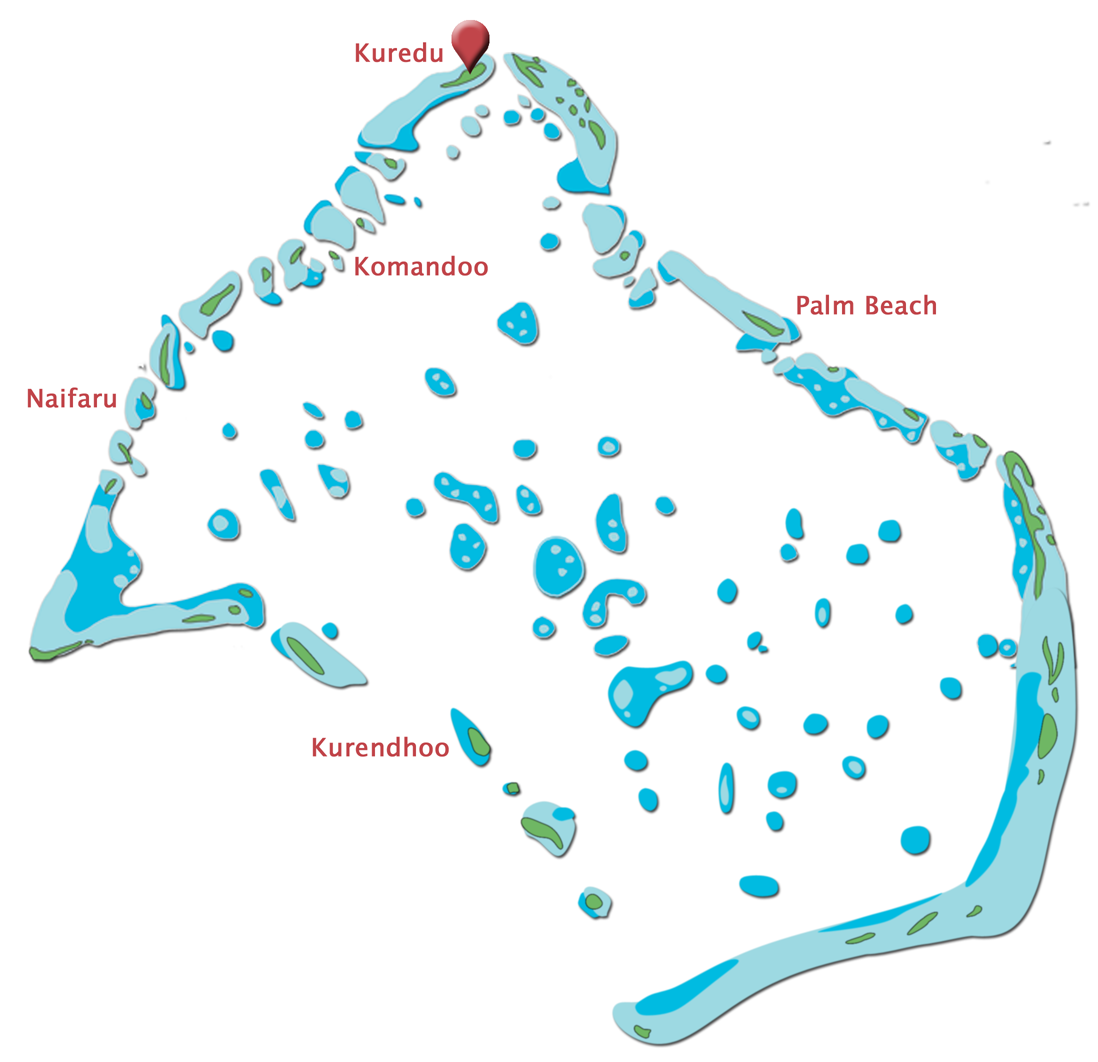 Lhaviyani Atoll Map Kuredu Location