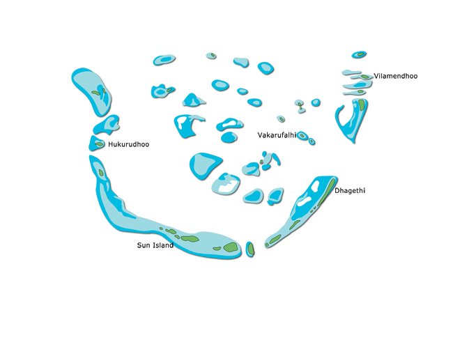 South Ari Map Maldives Diving