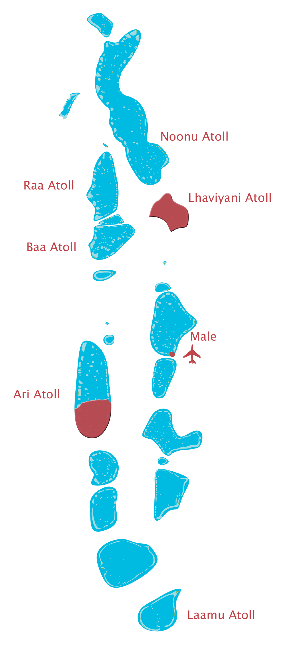 Maldives Map Atolls Location