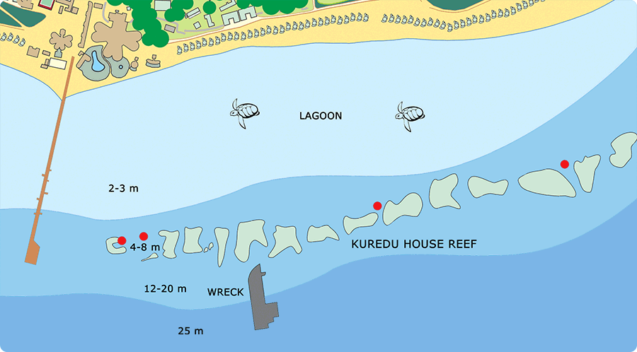 Map of Kuredu House Reef
