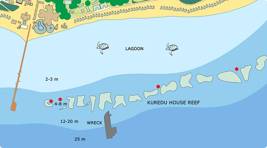 Map of Kuredu House Reef