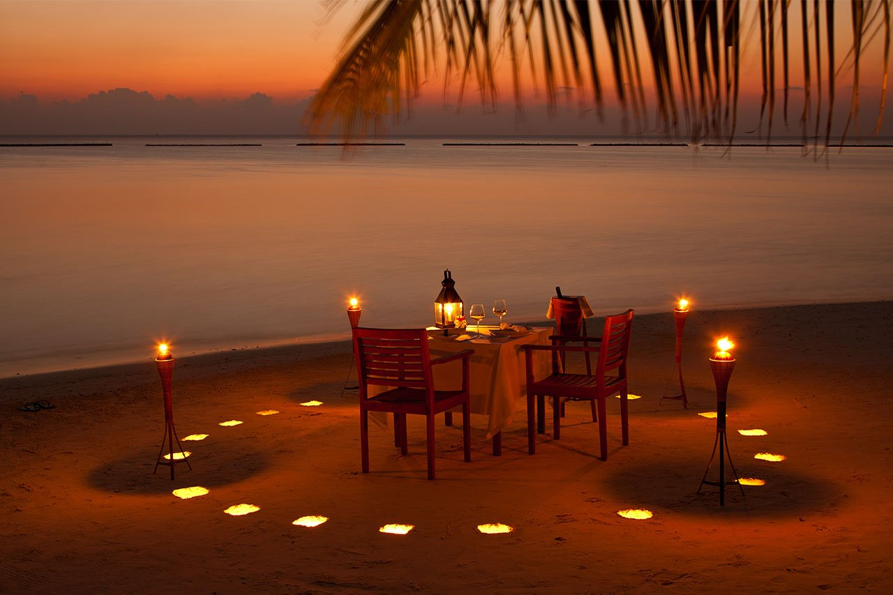 Maldives Scuba Diving Beach Dinner