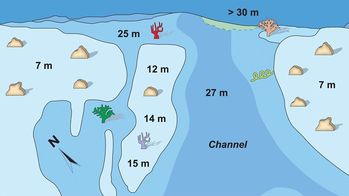 карта дайвинга Fushivaru Thila