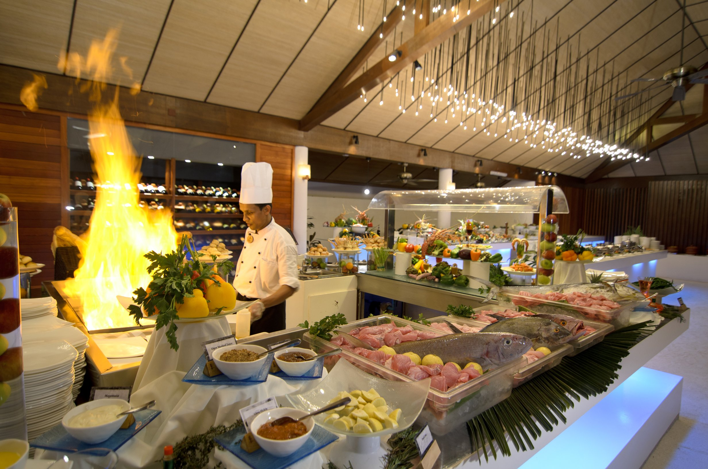 Buffet Restaurant Lily Beach Maldives