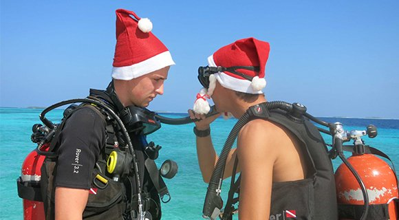 Christmas diving Maldives