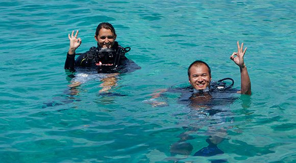 House reef Kuredu Maldives