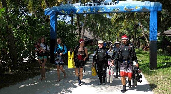 Prodivers Kuredu Maldives Christmas