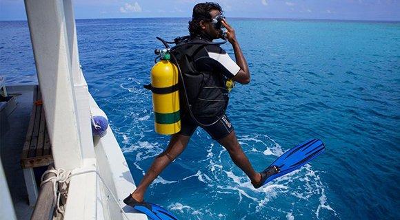 Nitrox scuba diving Maldives
