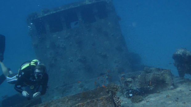 Scuba diving wreck Maldives