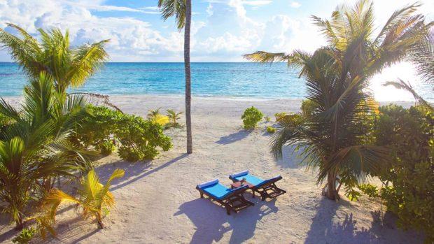 Maldives beach paradise