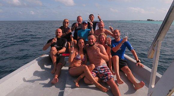 Maldives underwater proposal diving