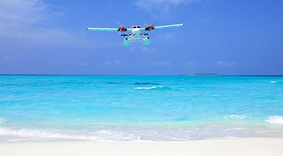 Maldives seaplane transfer flight
