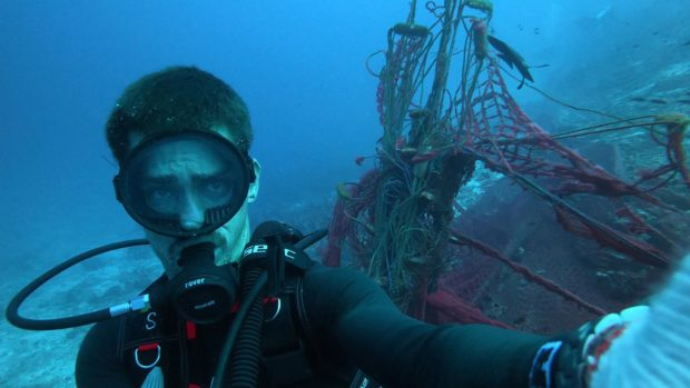 Earth Day Diving Ghost Net